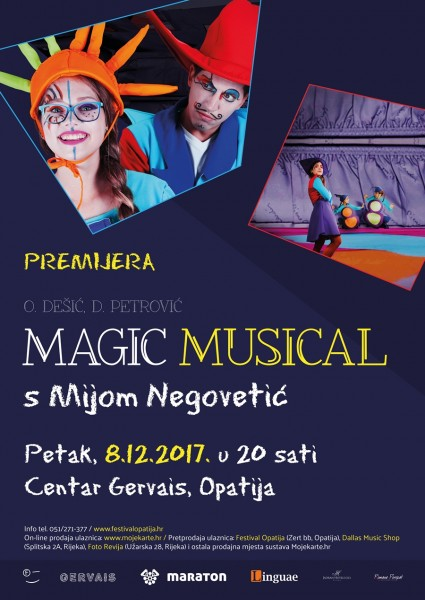 Ulaznice za MAGIC MUSICAL s Mijom Negovetić, 08.12.2017 u 20:00 u Centar Gervais